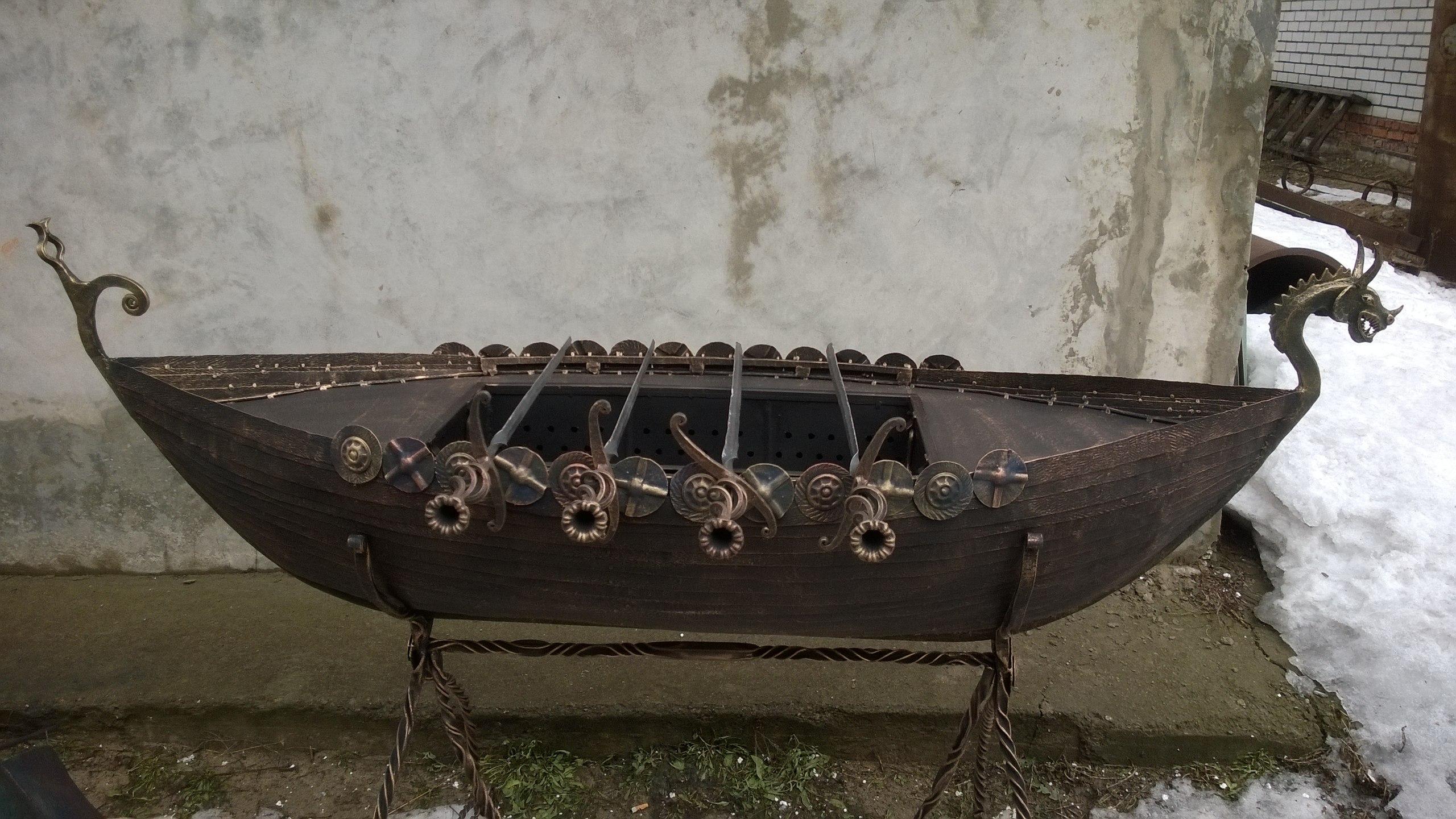 Как сделать мангал в виде корабля